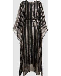 Taller Marmo - Metallic Stripe Kaftan - Lyst