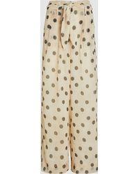 Nanushka - Nevada Polka Dots Chiffon Trousers - Lyst