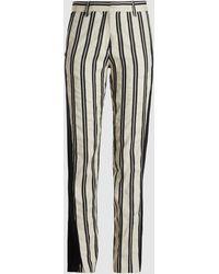 Ann Demeulemeester Striped Cotton-blend Straight Leg Trousers - Multicolour