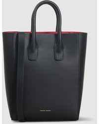 Mansur Gavriel Mini Ns Leather Tote Bag - Black