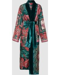 F.R.S For Restless Sleepers Nomos Scarf Print Robe - Multicolor