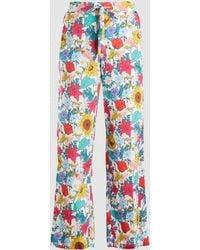 Baum und Pferdgarten - Nu Floral Drawstring Silk Trousers - Lyst