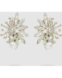 Erickson Beamon - Leaf Studded Pearl Earrings - Lyst