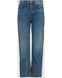 RE/DONE Stove Pipe High-rise Straight Jeans - Blue