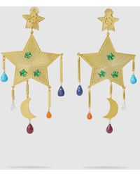 Mercedes Salazar - Rainbow Shooting Star Gem Drop Earrings - Lyst