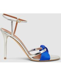 Malone Souliers - Terry Satin-trimmed Leather Sandals - Lyst