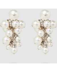 Lanvin - Crystal-embellished Pearl Cluster Earrings - Lyst