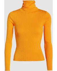 Simon Miller Berto Ribbed-knit Turtleneck Jumper - Orange