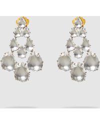 Larkspur & Hawk - Caterina White Quartz Chandelier Earrings - Lyst