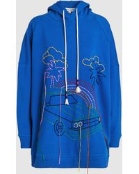 Mira Mikati - Hand Embroidery Retro Oversized Hoodie - Lyst