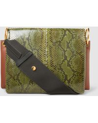 Marni - Cities Leather-panelled Elaphe Clutch - Lyst