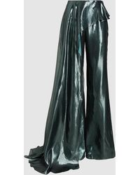 Madiyah Al Sharqi - Side Panel Flared Satin Trousers - Lyst