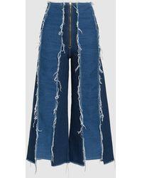 Rejina Pyo - Bella Frayed Cropped Jeans - Lyst