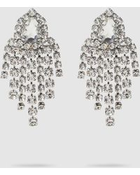 Alessandra Rich Crystal Clip-on Earrings - Metallic