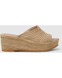 Carrie Forbes Karim 20 Raffia Wedge Sandals - Multicolor
