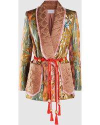 Peter Pilotto Baroque Quilted Blazer - Metallic