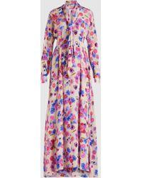 Natasha Zinko Floral Printed Maxi Dress - Multicolor