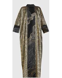 LAYEUR Curie Kimono-style Kaftan Dress - Black