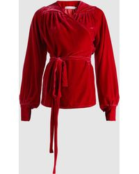 Madiyah Al Sharqi - Velvet Wrap Top - Lyst
