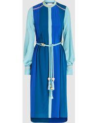 Peter Pilotto - Silk Colour Block Shirt Dress - Lyst
