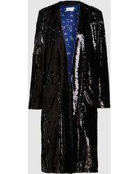 Racil Vivien Sequinned Crepe Robe Jacket - Black