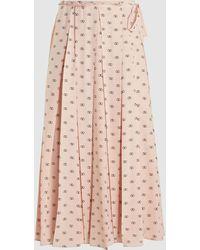 Valentino Vlogo Pleated Skirt - Pink