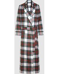 Racil - High Windsor Tartan Wool Trench Coat - Lyst