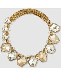 Erickson Beamon - Gold Plated Crystal Necklace - Lyst