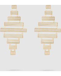 Arme De L'Amour Stripe Chandelier Drop Earrings - Metallic
