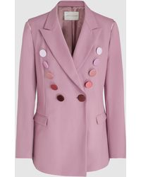 Marco De Vincenzo - Button-embellished Stretch-wool Blazer - Lyst