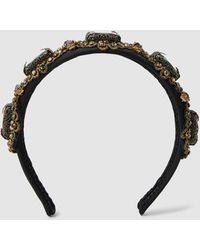 Dolce & Gabbana Jewel Studded Silk Headband - Multicolour