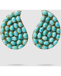 Rebecca de Ravenel - Grand Bazaar Turquoise Tear Drop Earrings - Lyst