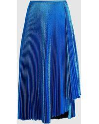 Cedric Charlier Flared Midi Skirt - Blue