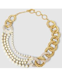 Erickson Beamon - Gold-plated Faux Pearl Necklace - Lyst