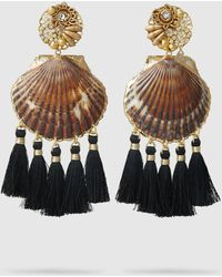 Mercedes Salazar - Fiesta Shell Fringed Earrings - Lyst
