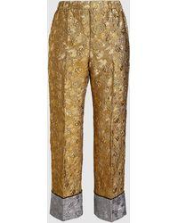 N°21 Cropped Metallic Jacquard Pants