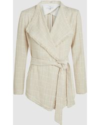 IRO - Quinet Tweed Tie-front Jacket - Lyst