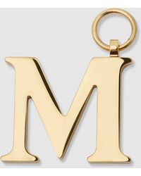Chaos Gold-plated Alphabet M Charm - Metallic