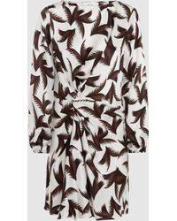 A.L.C. - Freja Printed Draped Silk Dress - Lyst