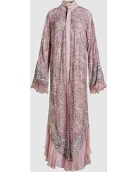 Madiyah Al Sharqi - Beaded Lace Maxi Kaftan - Lyst