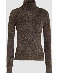 OSMAN Pippa Roll Neck Lurex Sweater