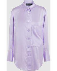Michael Lo Sordo - Cocoon Silk Shirt - Lyst