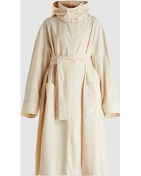 Lemaire - Hooded Cotton Trench Coat - Lyst