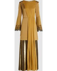Zeus+Dione - Caryatid Draped Satin And Lamé Gown - Lyst