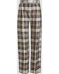 Hope Soft Check Tailored Trousers - Multicolour