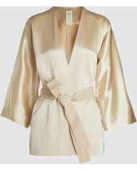 Zero + Maria Cornejo - Wrap Oki Draped Blended Jacket - Lyst