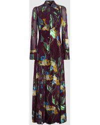Anna Sui - Blithe Spirit Silk-blend Jacquard Maxi Dress - Lyst