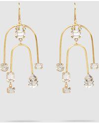 Erickson Beamon Crystal And Gold-tone Mobile Earrings - Metallic