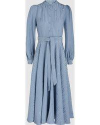 Co. - Watermark Satin-jacquard Midi Dress - Lyst