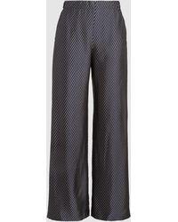 Zero + Maria Cornejo Kati Striped Woven Pants - Blue